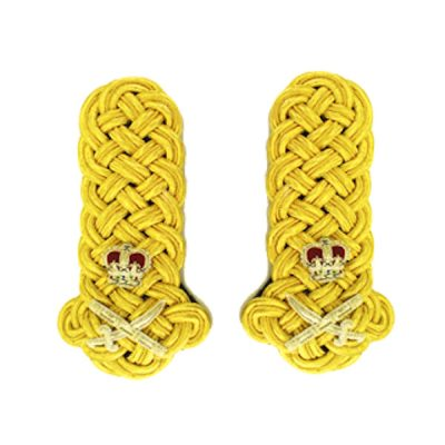 Shoulder Boards Gold (2% Gold) – General Staff Officer