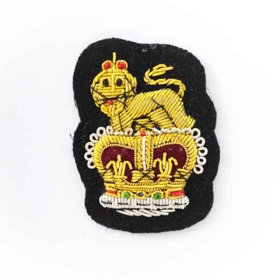 Staff Officer Embroidered Cap Badge