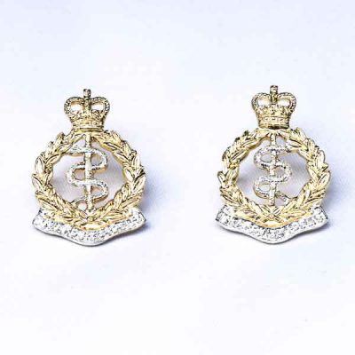 RAMC – Metal Collar Badges