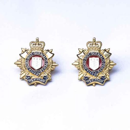 RLC Officer Collar Badges