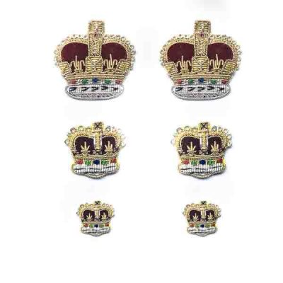 Embroidered Gold Crowns (pr)