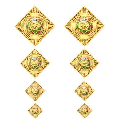 Embroidered Gold Rank Stars (pair)