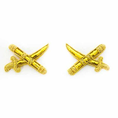 Crossed Sword & Batons (pair) – Embroidered Badge
