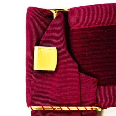 Crimson Sash with tassels
