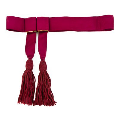 Crimson Sash with tassels