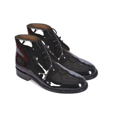 George Boots (Patent Leather) with spur housing