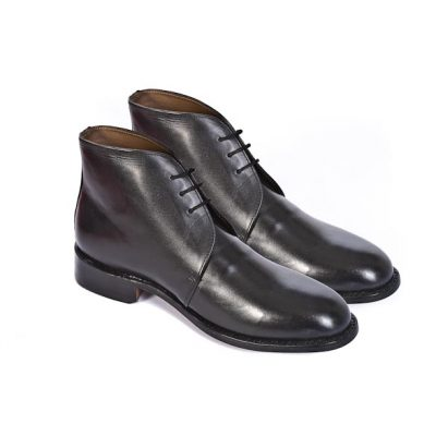 George Boots (Plain Leather) with Spurs