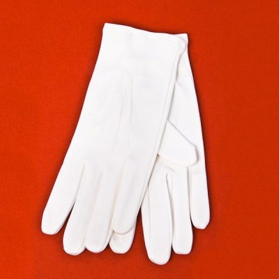 Gloves White Cotton