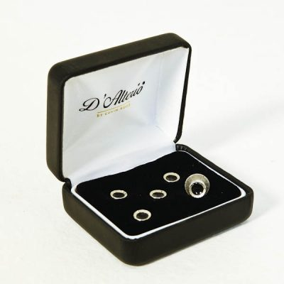 Black Dress Shirt Studs (5 Boxed)