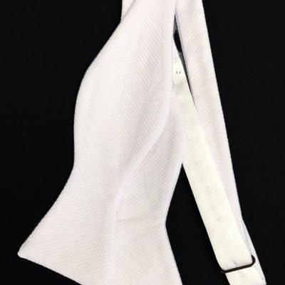 White Marcella Self-Tie Bow Tie