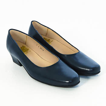 Court Shoes  – Navy